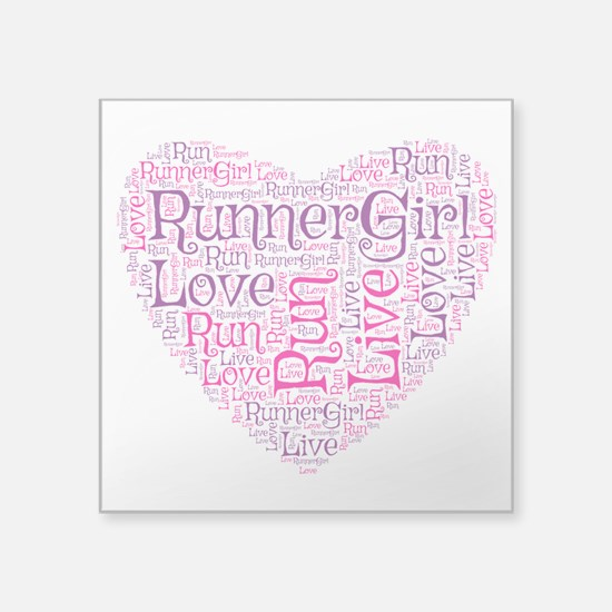 Runnergirl Heart Sticker