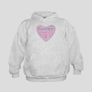 Runnergirl Heart Kids Hoodie