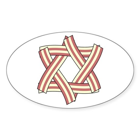 Star of Bacon Oval Sticker