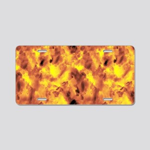 Raging Inferno Aluminum License Plate