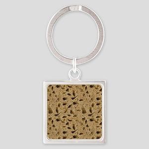 Dry Sponge Square Keychain