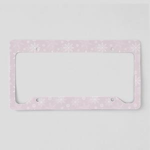Winter Blush License Plate Holder