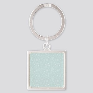Anticipated Snow Square Keychain