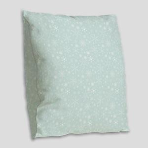 Anticipated Snow Burlap Throw Pillow