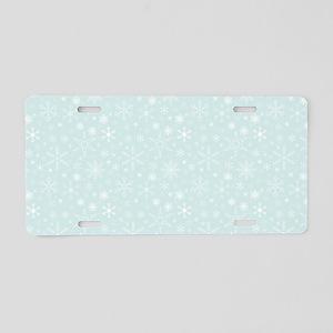 Anticipated Snow Aluminum License Plate