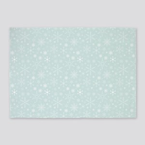 Anticipated Snow 5'x7'Area Rug
