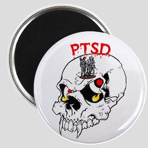 PTSD SKULL Magnet