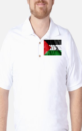 Palestine Flag Golf Shirt