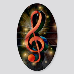 Clef Sticker (Oval)