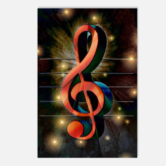 Clef Postcards (Package of 8)