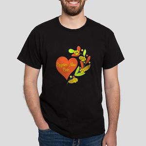 Egyptian Mau Heart Dark T-Shirt