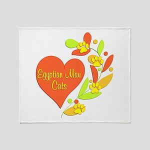 Egyptian Mau Heart Throw Blanket