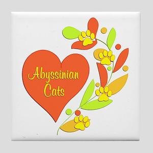 Abyssinian Heart Tile Coaster
