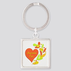 Abyssinian Heart Square Keychain