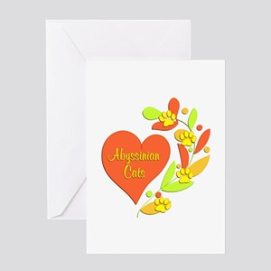 Abyssinian Heart Greeting Card