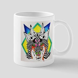 Optical Illusion Wolf Mugs