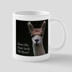 Alpaca with funny hairstyle Mug