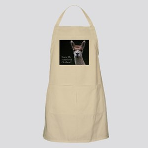 Alpaca with funny hairstyle Apron