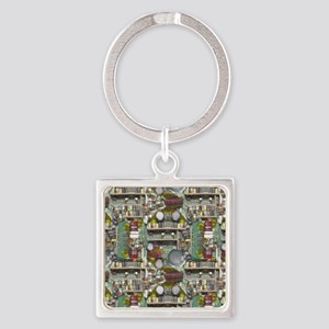 Inner Workings Square Keychain