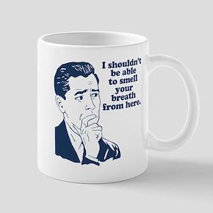 Retro Bad Breath Insult Humor Mug