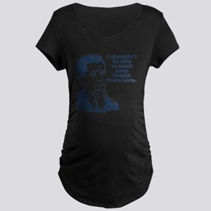 Retro Bad Breath Insult Hum Maternity Dark T-Shirt