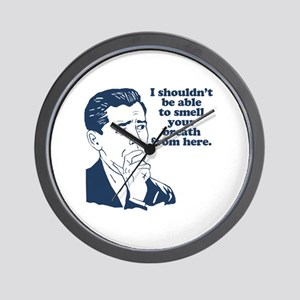 Retro Bad Breath Insult Humor Wall Clock