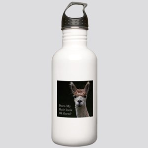 Alpaca with funny hair Stainless Water Bottle 1.0L