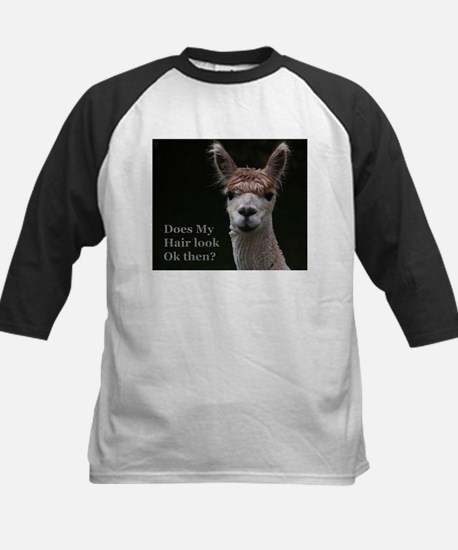 Alpaca with funny hairstyle Baseball Jersey