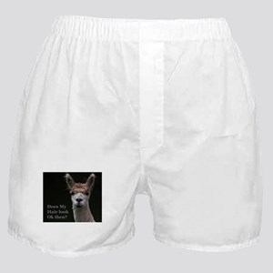 Alpaca with funny hairstyle Boxer Shorts