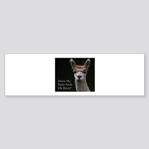 Alpaca with funny hairstyle Bumper Sticker