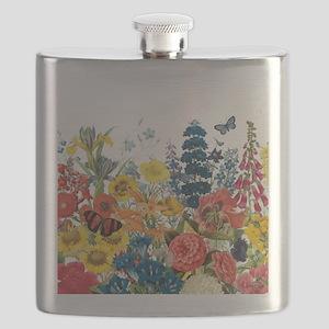 modern vintage flowers Flask