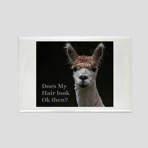 Alpaca with funny hairstyle Magnets