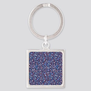 American Streamers Square Keychain