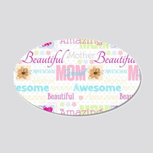 Mothers Day 20x12 Oval Wall Decal