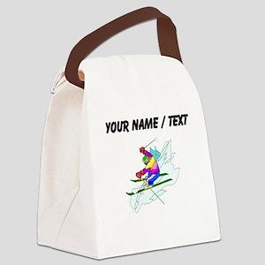 Custom Skier Canvas Lunch Bag