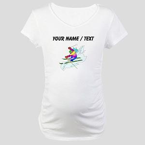 Custom Skier Maternity T-Shirt