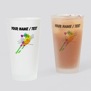 Custom Skier Drinking Glass