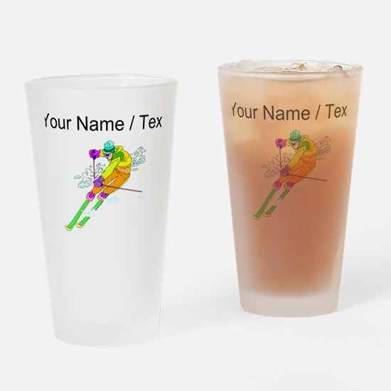 Custom Skier Drinking Glass