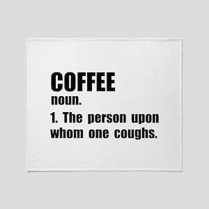 Coffee Definition Throw Blanket