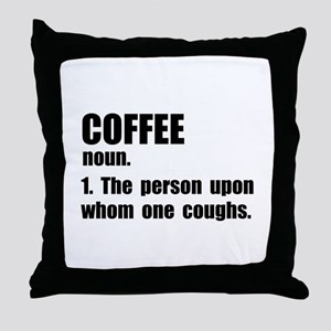Coffee Definition Throw Pillow