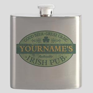 Custom Irish Pub Vintage Flask