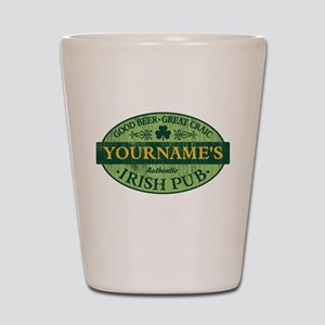 Custom Irish Pub Vintage Shot Glass