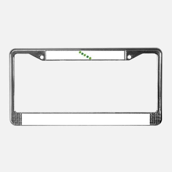 Lucky Irish Clover License Plate Frame