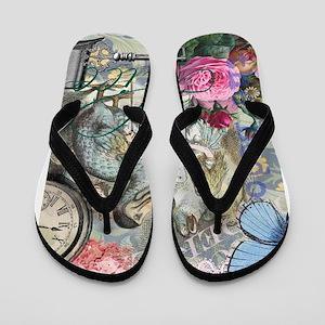 Alice in Wonderland Dodo Vintage Pretty Collage Fl