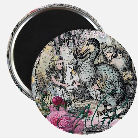 Alice in Wonderland Dodo Vintage Pretty Collage Ma