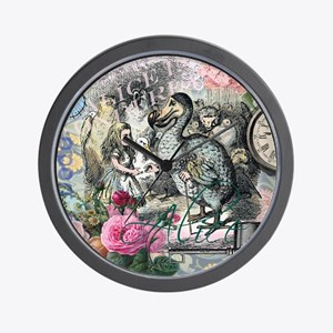 Alice in Wonderland Dodo Vintage Pretty Collage Wa