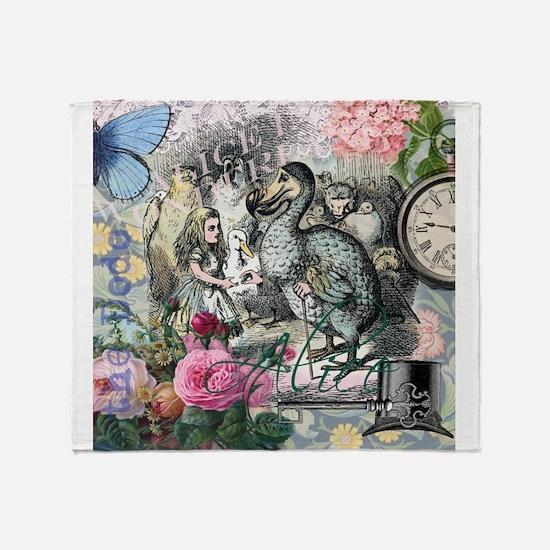 Alice in Wonderland Dodo Vintage Pretty Collage Th