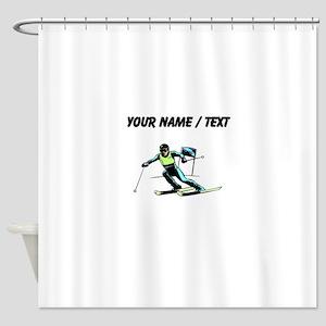 Custom Slalom Racer Shower Curtain