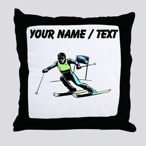 Custom Slalom Racer Throw Pillow
