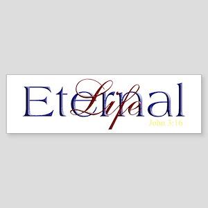 Blue Red Eternal Life Bumper Sticker